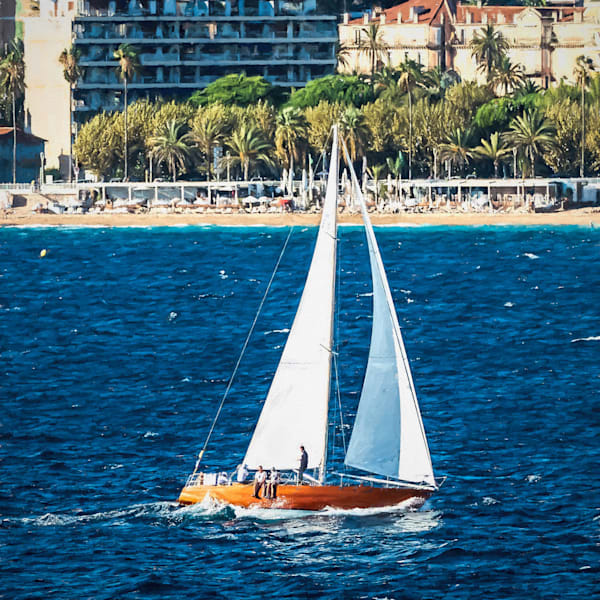 Sailing At Cannes Square Edition In Canvas Photography Art | TONYGRIDERIMAGES.COM