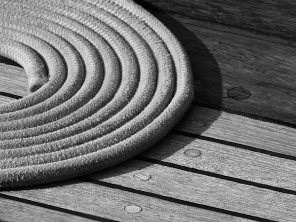 Monochrome Rope Coil Photography Art | TONYGRIDERIMAGES.COM