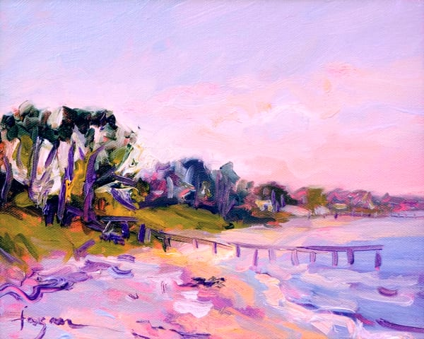 Sunrise Beach Painting Mathews Virginia by Dorothy Fagan, By the Water's Edge