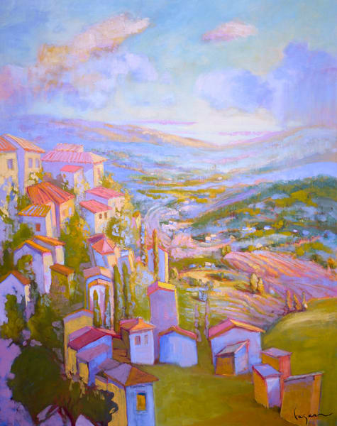 Lavender Fields Provence Painting, Fine Art Print by Dorothy Fagan