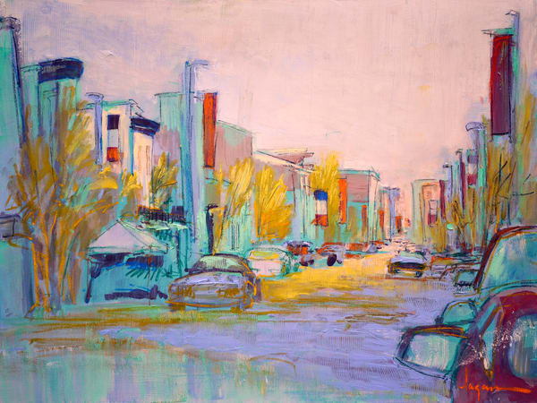 Richmond Street Scene Painting by Dorothy Fagan