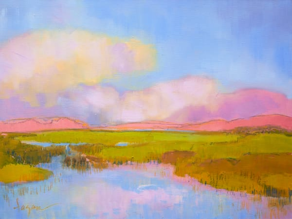 Marsh Painting, Limited Edition Print by Dorothy Fagan