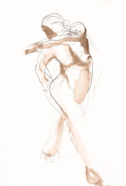 """""""Sling"""" Inktober Figure Drawing 2019"""