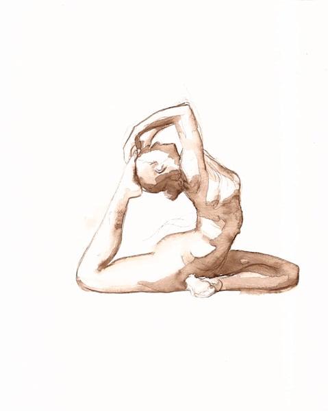 "Pigeon Pose Yoga Drawing ""Ring"" -ORIGINAL"