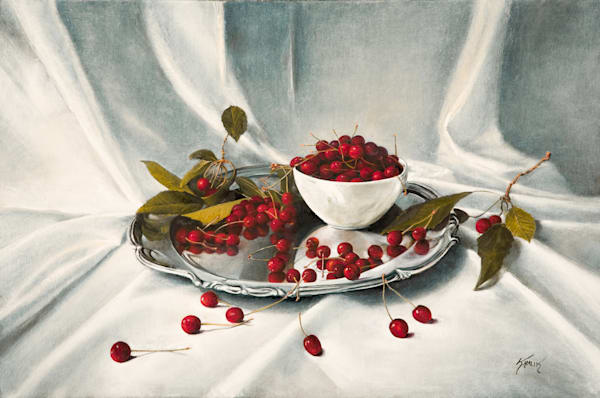Cherries on a Silver Platter