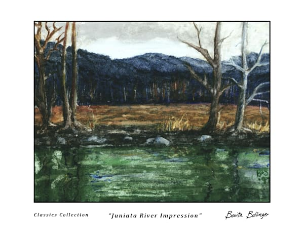 012 Juniata River Impression Art | Blissful Bonita Art Studio & Gallery