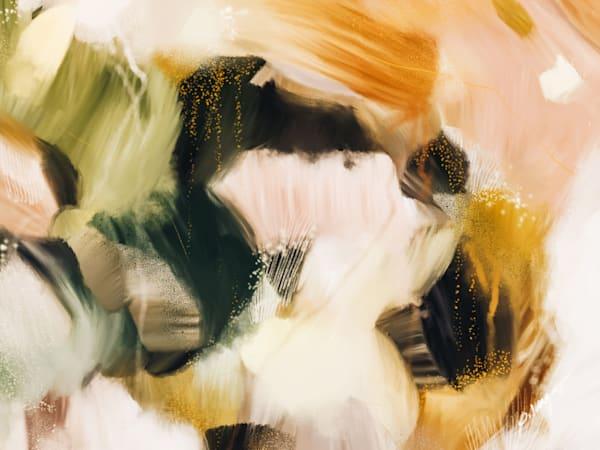 No.1118 - Yellow abstract art print