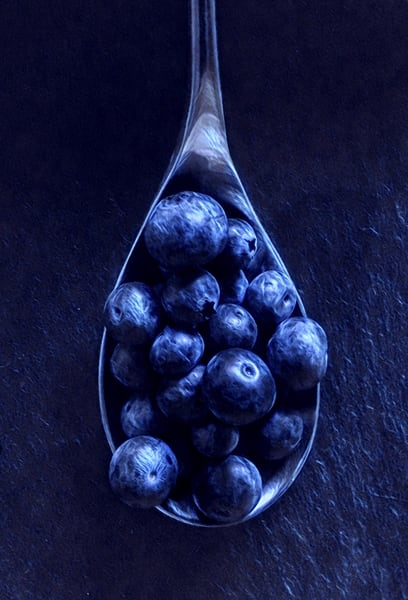 Blueberries Spoon