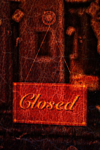 Closed Red Art | Caplan Studios Vault, LLC