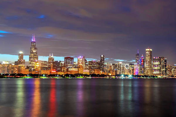 Independence Day at Chicago's Skyline - Chicago Wall Art | William Drew