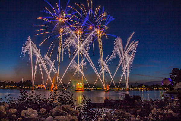 Blue Sky Illuminations - Epcot Fireworks | William Drew Photography