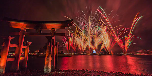 Red Illuminations - Epcot Center Pictures | William Drew Photography