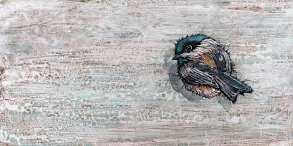Weathered Chickadee 1 | Col Mitchell Contemporary Paper Artist