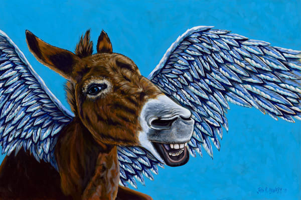 Flying Donkey painting