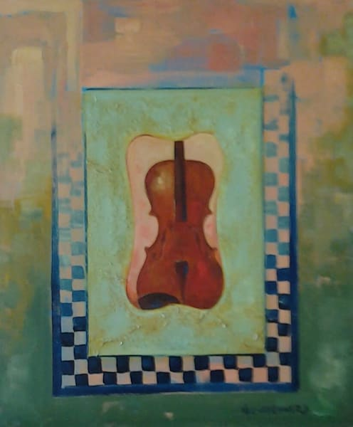 """""""Portrait Of A Violin"""" Art 