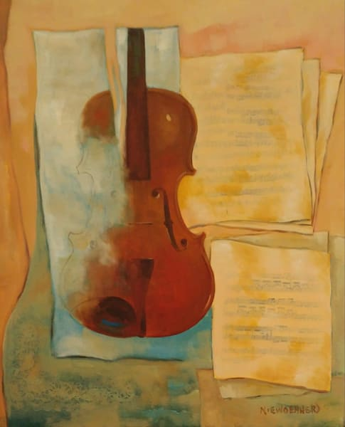 """""""Unfinshed"""" Violin"""" Art 