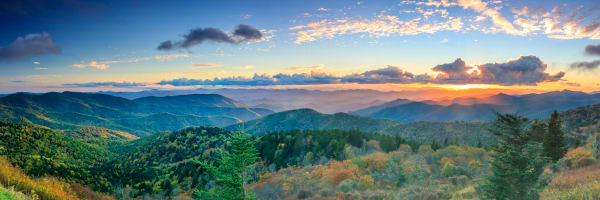 Sunset Over The Cowee Mountains Photography Art | Red Rock Photography