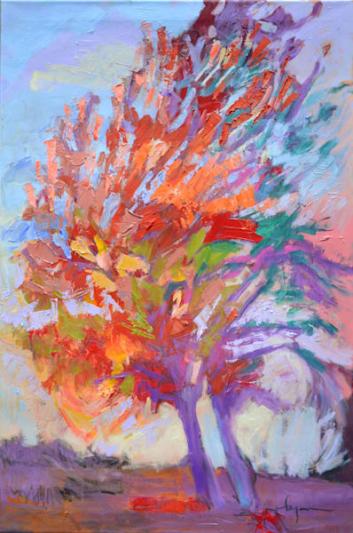 Autumn Tree Original Oil Painting by Dorothy Fagan