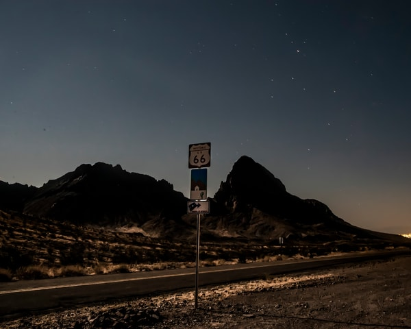 Route 66 Under the Moon