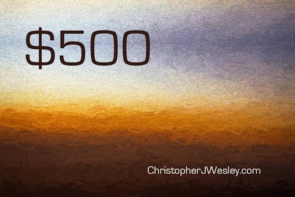 $500 Gift Card | Christopher J Wesley's Artistic Agenda