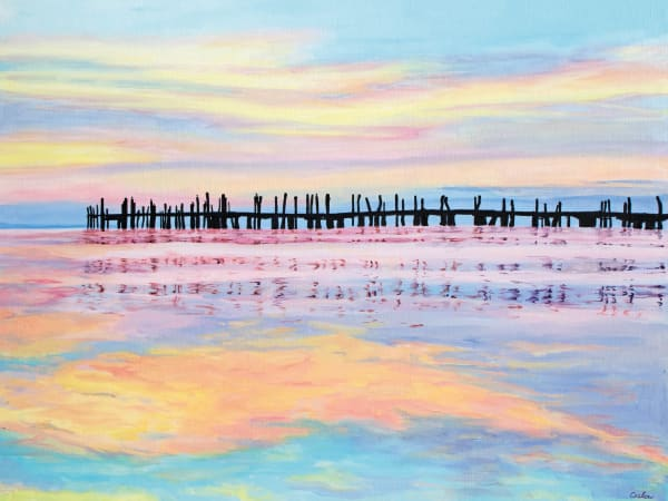 Reflections at Duryea's - Print by Candace Ceslow