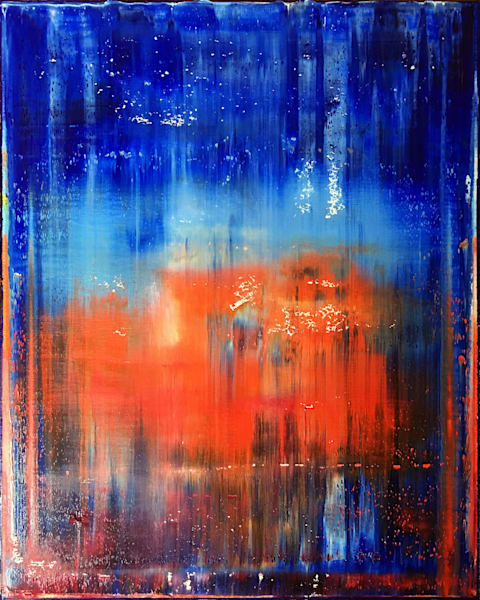 Firewater original PMS abstract painting