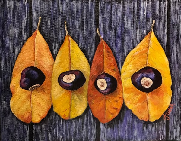 Autumn Leaves Art | alanajudahart
