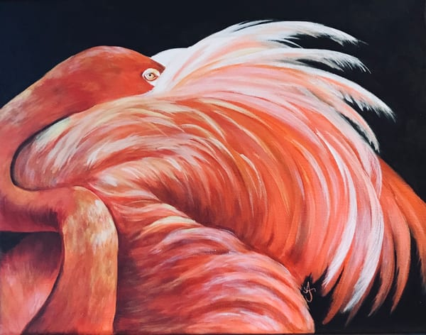 Alice's Flamingo Art by alanajudahart