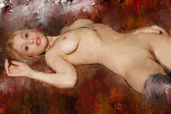 On a Brown Couch by Eric Wallis.