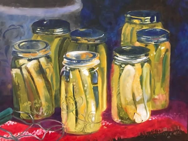 A Dilly Of A Pickle Art | Jan Thoreen Lewis Fine Art