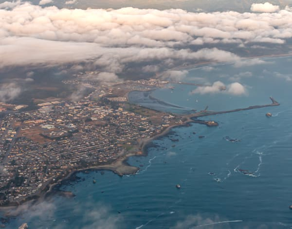 Seaside Town, an Aerial View of Crescent City