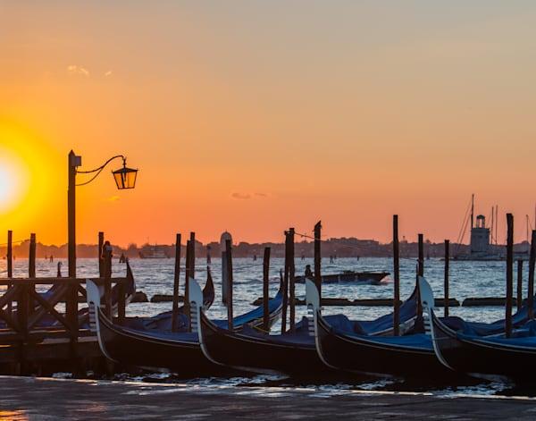 Beautiful Morning: Gondolas at Sunrise