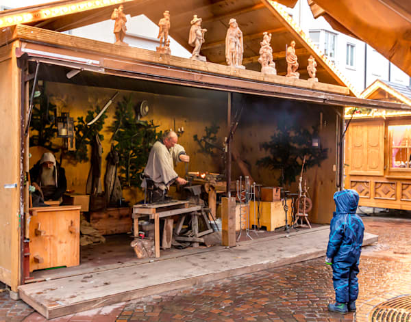 Curiosity: Watching the Blacksmith at work at the Christmas Market