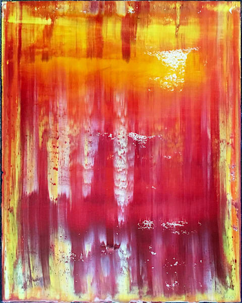 Hellfire abstract PMS oil painting