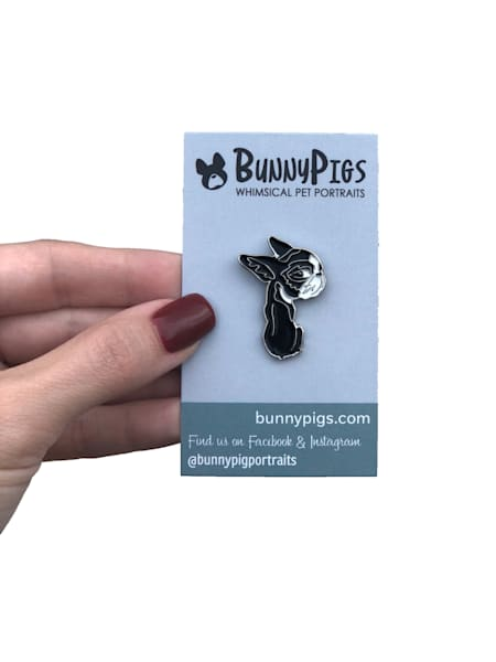 Boston Terrier enamel pins from BunnyPigs