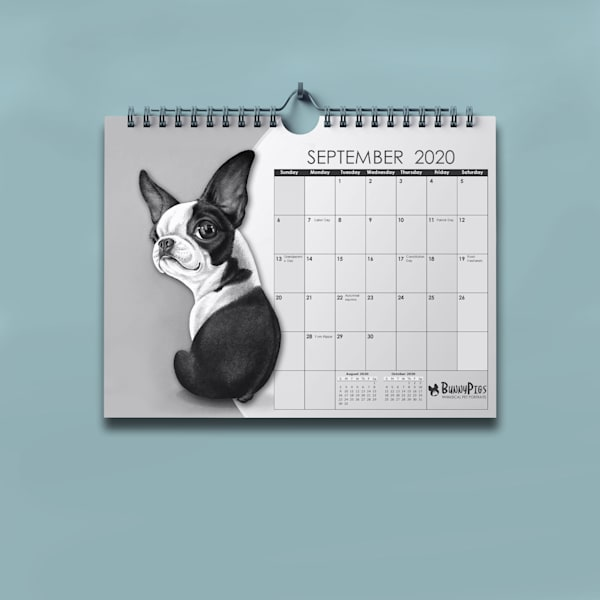 2020 Boston Terrier Calendars