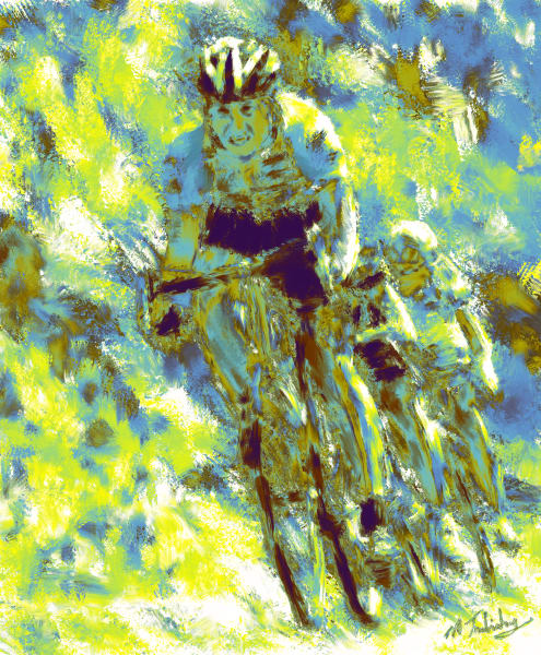 Cycling Painting | Sports artist Mark Trubisky | Custom Sports Art