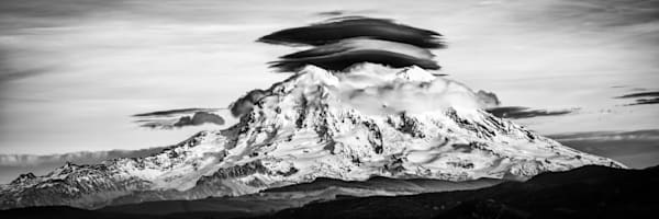 Mount Rainier Lenticular Cloud Landscape Photograph