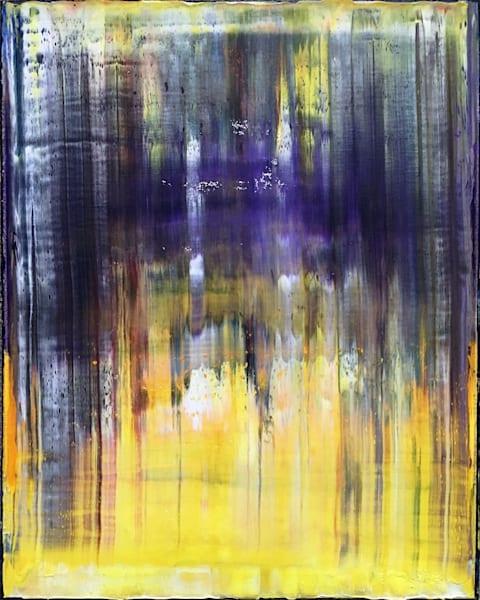 Purple Rain abstract oil painting