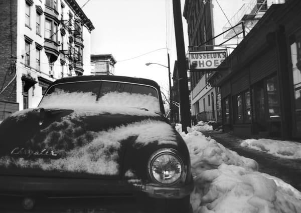 Hoboken Street In Winter Photography Art | Peter Welch