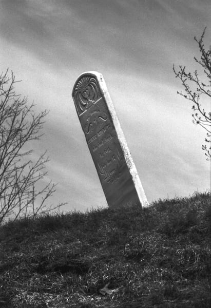 Slanted Headstone Photography Art | Peter Welch