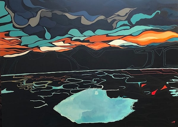 Carrol Spear Spotted Lake 30x40