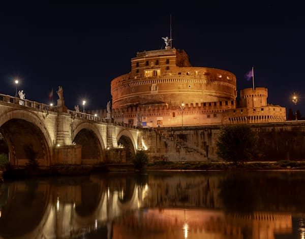 Castel Sant Angelo At Night Photography Art | Catherine Balck Photography