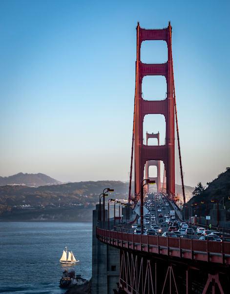 Golden Gate Bridge and Schooner