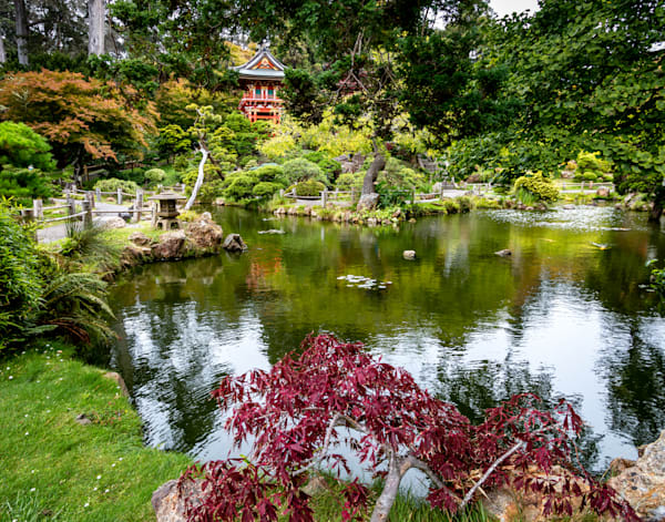 Red Pagoda At The Japanese Tea Garden Photography Art | Catherine Balck Photography