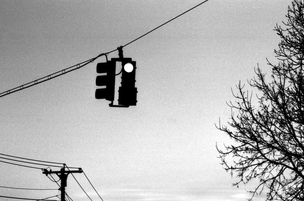 Red Light In Winter Photography Art | Peter Welch