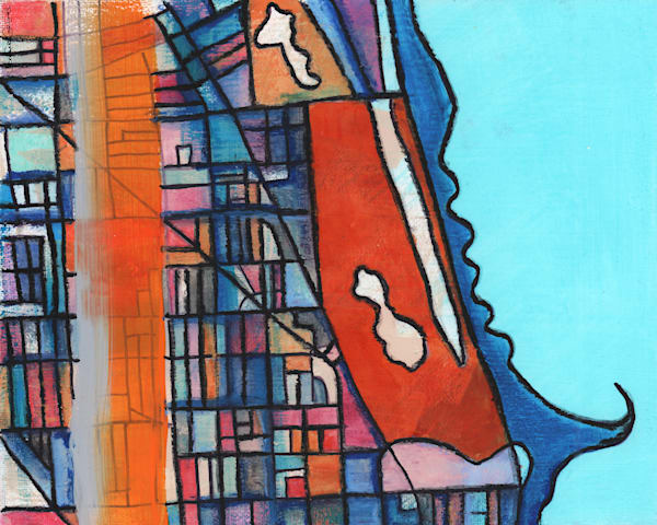 Lincoln Park Map Print by Carland Cartography– Abstract Street Map of Chicago Neighborhoods