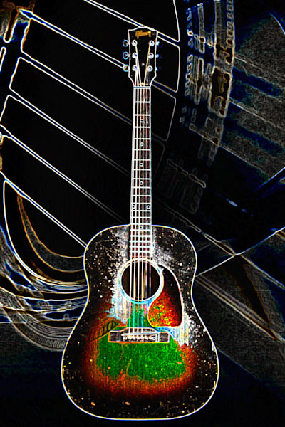 407.1834D Gibson J45 Dark Drawing