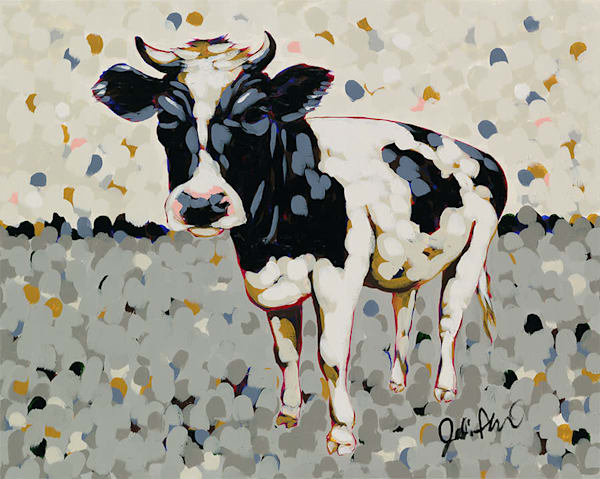 Barry, a cow in a pasture by Jodi Augustine.