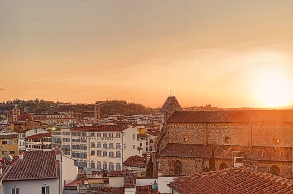 Via Panzani, Basilica Santa Maria Novella Sunset